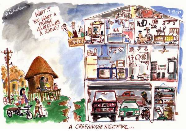 Greenhouse v third world cartoon the Australian 1997-12-08