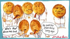 Sad day for pie face margin Call cartoon 2004-12-12