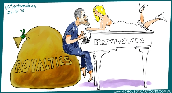 Pavlovic white baby grand royalties Margin Call Business Australian 2010-08-25