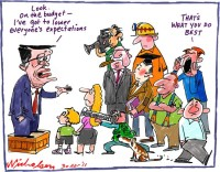 2011-04-30 Wayne Swan budget low expectations 650