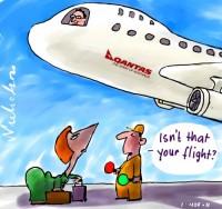 2011-11-02 Qantas back in air Julia on tarmac 500