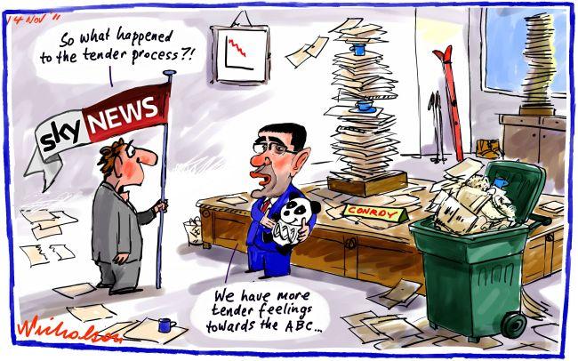 Conroy ABC Skynews Australian Network tender process ...