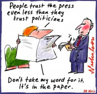 2011-12-28 Poll on trustworthiness Press low 500