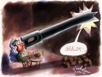 April Arafat Israel says Shalom with tank web 550