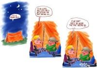 June Meg Lees pee in tent 600