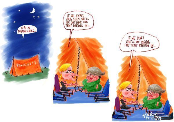 June Meg Lees pee in tent 600  sc 1 st  Nicholson Cartoons & June Meg Lees pee in tent 600 | nicholsoncartoons.com.au