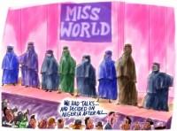 Purdah Veil Miss World Nigeria 1m