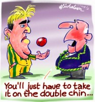 Warne takes it on chin b1