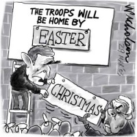 Iraq troops home by Easter .5