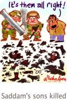 Uday Qusay killed Iraq  300