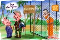 I love Free Speech Bush Hicks Guantanamo 550wb