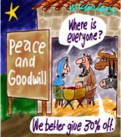 Christmas cut-price Peace and Goodwill 200226