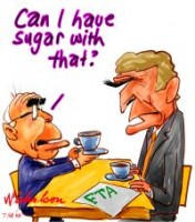 Howard wants sugar with FTA 200226