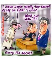 spies too secret for government E Timor 200