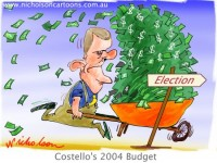 Budget Costello election strategy 450399