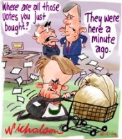 budget purchased votes stolen Latham 200226
