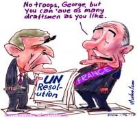 fourth draft UN resolution Bush France 504