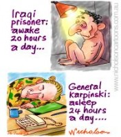 Karpinski Abu Graib torture sleep 200226