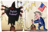 Bush slaughters English Grammar Adams 450302