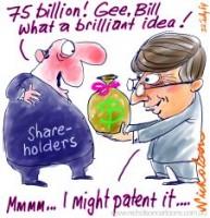 Bill Gates to shareholders 75 billion 226233