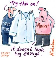 Coles Myer record payout markets unhappy 226233F