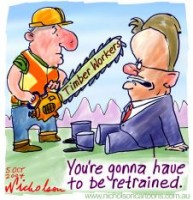 Tasmania Timber Workers grumpy at Latham 226p