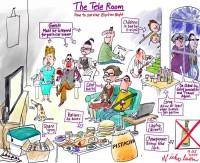 Election Night tele room 700