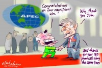 Apec Howard congratulates Bush 450302