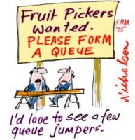 Fruit pickers wanted queue 226