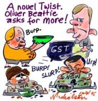 Twist Beattie asks for more GST 226233