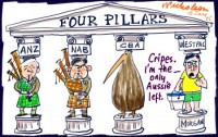 Four Pillars Banks CEOs only one Aussie 450