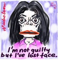 Michael Jackson not guilty face 226