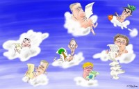 Politicians in the clouds 450