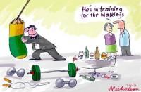Walkleys Milne Crikey training scuffle 550wb