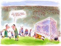 World Cup football soccer goal orig 2001