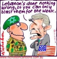 Bush war one week Israel 226