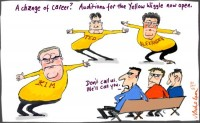 Politicians audition for Yellow wiggle 550