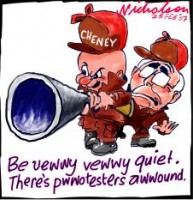Cheney meets protesters 226233