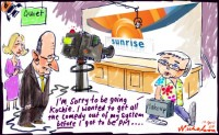 Kevin Rudd leaves Channel 7 Sunrise Kochie 550