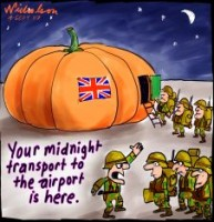 British midnight pullout from Basra Iraq 226