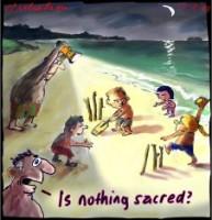 Cricket night tests nothing sacred 226