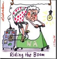 Carpenter WA riding the boom 226233