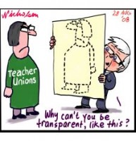 Rudd takes on Teacher Unions on tranparency 226