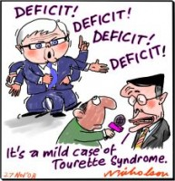 Rudd mentions the deficit 226