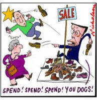 Swan says spend spend spend shoes 226