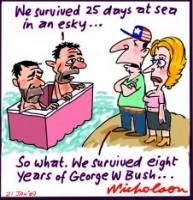 esky at sea George Bush 226