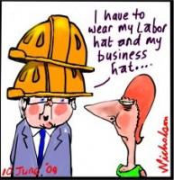 ACTU Congress Rudd Gillard hats 226