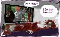 Sam Neill and Dennis MLA Red Meat 600