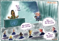 Rudd Gaddafi at UN nuts 600