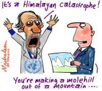 Himalayas glaciers exaggeration 226